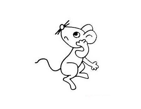 可爱的小老鼠简笔画