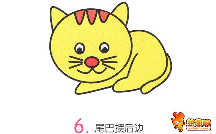 可爱小猫简笔画步骤