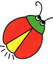 萤火虫简笔画图片