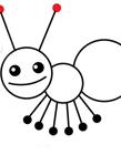 可爱蚂蚁简笔画步骤