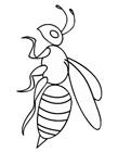 最简单的蜜蜂怎么画