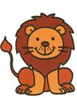卡通狮子简笔画