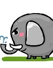 大象喷水简笔画
