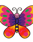 花蝴蝶的简笔画