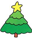 圣诞树简笔画