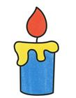 蜡烛简笔画带颜色