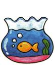 金鱼鱼缸简笔画