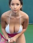 伊莉莎白安打网球视频 伊莉莎白安(ElizabethAnne)抖胸乳摇