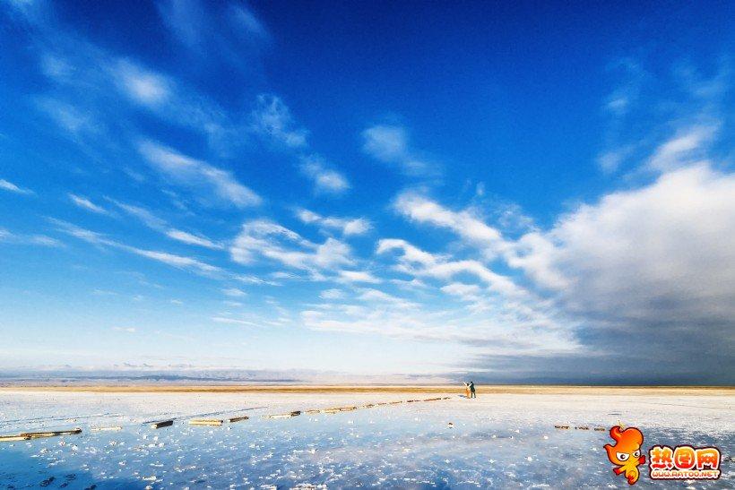 青海茶卡鹽湖風景圖片
