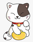 简笔画招财猫的画法 招财猫彩色简笔画