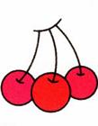 樱桃简笔画步骤