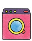 洗衣机简笔画步骤 洗衣机怎么画