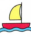 帆船简笔画画法