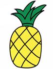 菠萝简笔画步骤图