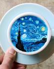 创意咖啡拉花作品