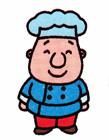 卡通厨师简笔画步骤
