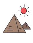 金字塔简笔画步骤 金字塔简笔画法