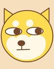 卡通秋田犬头像简笔画