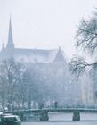荷兰首都阿姆斯特丹雪景图片