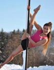 2017第三届钢管舞高寒挑战赛:看冰雪中美丽的钢管舞者