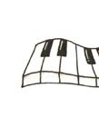 钢琴键盘简笔画 钢琴黑白键简笔画