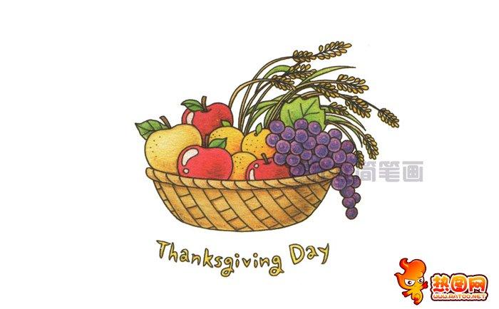 水果篮子简笔画图片
