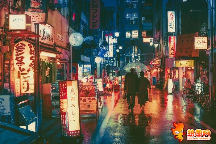 日本东京街道夜景