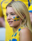 好看的瑞典队女球迷图片 瑞典女孩漂亮吗
