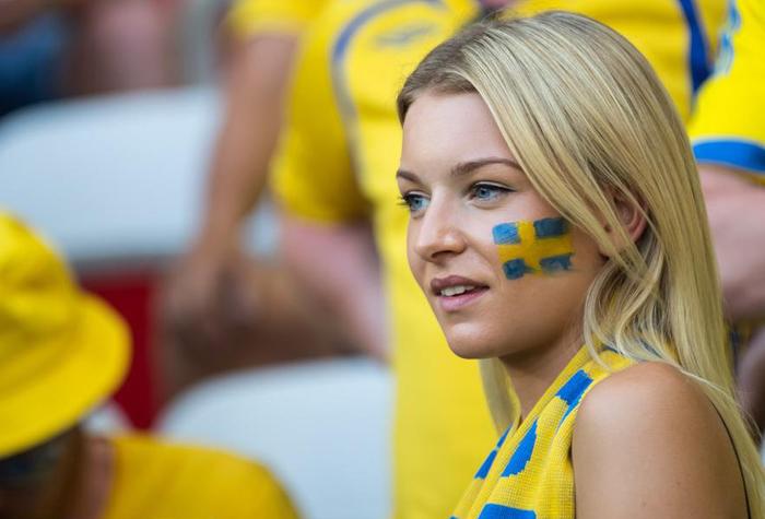 瑞典队女球迷图片