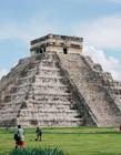 库库尔坎金字塔图片 给人的视觉感非常的酷炫