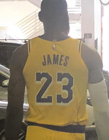 詹姆斯穿湖人球衣图片 湖人23号来了