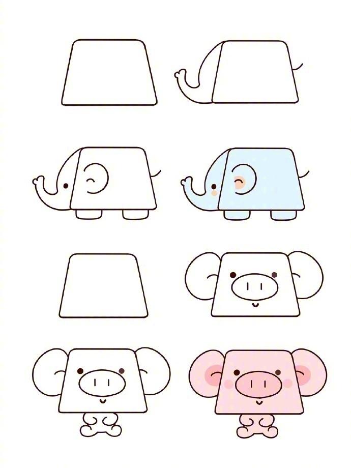 梯形可以画什么动物 用梯形能画出什么动物-简笔画-热