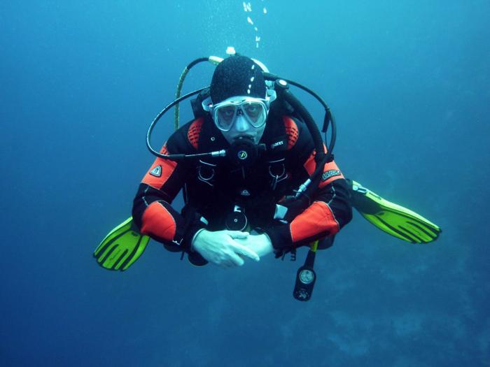 潜水的人图片