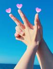情侣创意手势拍照 情侣之间手拍照的姿势 抖音最火情侣拍照手势