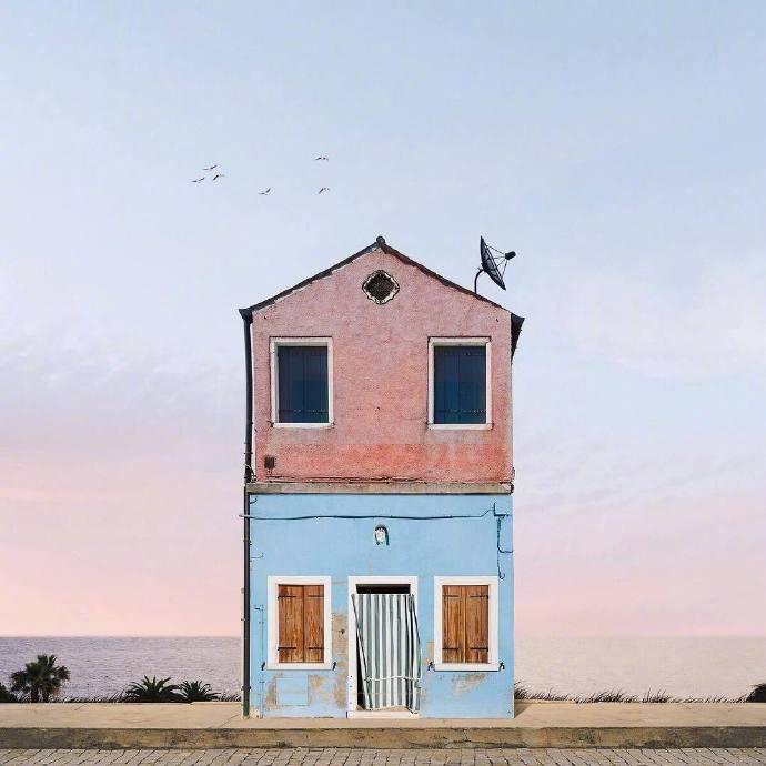 海邊房子風景圖片 海邊房子可愛圖片大全圖片