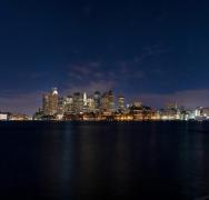 美国波士顿城市夜景图片