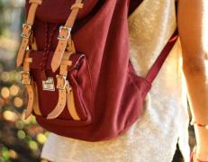 个性有设计登山旅游双肩包图片