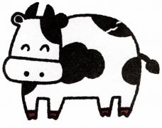 奶牛卡通动漫动物简