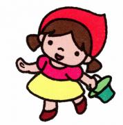 小红帽卡通动漫简笔