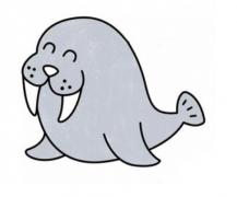 海豹动物简笔画画法