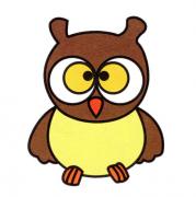 猫头鹰动物的简笔画