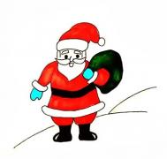 圣诞老人手账画法简