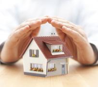 房子模型呵护手势创意设计高清图片图片