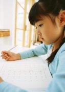 儿童小孩子学习写作业高清图