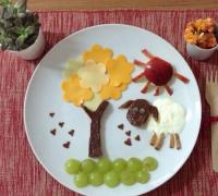创意卡通爱心摆盘美食便当图片大全