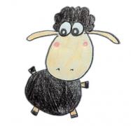 小羊肖恩简笔画步骤画法教程图