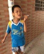 小孩抽烟被打儿童搞笑表情包图