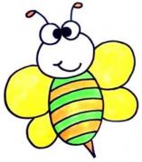 卡通小蜜蜂简笔画步骤
