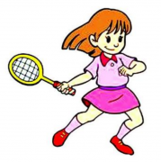 打羽毛球的人物简笔画