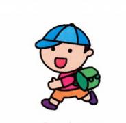 背书包的小学生简笔画